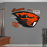 NCAA Oregon State Beavers 2013 Logo Wall Decal Sticker Wallstickers