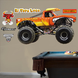 Monster Jam El Toro Loco Wall Decal Sticker Kalkomania ścienna