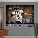 Baltimore Ravens Joe Flacco Super Bowl 47 Closeup Mural Decal Sticker Wall Decal