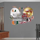 NCAA Miami-Florida State Rivalry Pack Wall Decal Sticker Wallstickers