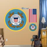 Military Coast Guard Logo Wall Decal Sticker - Duvar Çıkartması