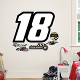 Nascar Kyle Busch 18 Logo Junior Wall Decal Sticker Vinilo decorativo