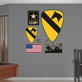 US Army 1st Cavalry Insignia Logo Wall Decal Sticker Adhésif mural