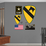 US Army 1st Cavalry Insignia Logo Wall Decal Sticker Wall Decal