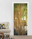 Bamboo Door Wallpaper Mural Wallpaper Mural