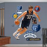 Memphis Grizzlies Marc Gasol Wall Decal Sticker Wall Decal
