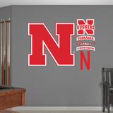 NCAA Nebraska Cornhuskers Logo Wall Decal Sticker Wall Decal