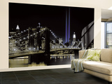 New York by night Mural de papel pintado