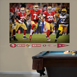 San Francisco 49ers Colin Kaepernick: 2013 NFL Playoff Rush Mural Decal Sticker Wall Decal