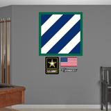 US Army 3rd Infantry Insignia Logo Wall Decal Sticker Adhésif mural