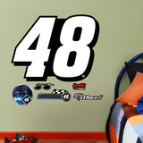 Nascar Jimmie Johnson 48 Logo Junior Wall Decal Sticker Wall Decal