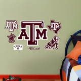 Texas A&M Aggies - 2012 Team Logo Assortment Wall Decal Sticker Wall Decal