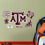 Texas A&M Aggies - 2012 Team Logo Assortment Wall Decal Sticker Seinätarra