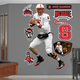 NCAA/NFLPA Mike Glennon North Carolina State Wolfpack 2013 Wall Decal Sticker Wall Decal