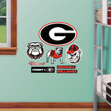 NCAA Georgia Bulldogs Junior Logosheet Wall Decal Sticker Wall Decal