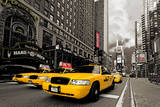 Yellow Cab Mini Wall Mural Wallpaper Mural