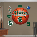 NCAA Michigan State Spartans Basketball Wall Decal Sticker Wall Decal