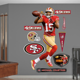 NFL San Francisco 49ers Michael Crabtree - Wide Receiver Wall Decal Sticker Wall Decal