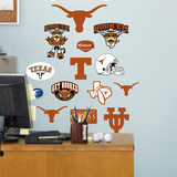 NCAA Texas Longhorns - Team Logo Assortment Wall Decal Sticker Wall Decal