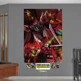 Teenage Mutant Ninja Turtles Shredder Battle Mural Decal Sticker Wall Mural