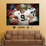 NFL New Orleans Saints Drew Brees Closeup Mural Decal Sticker Wall Decal