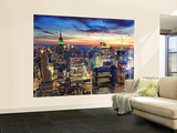 New York at Dusk Wallpaper Mural
