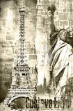 Tour Eiffel Mini Wall Mural Wallpaper Mural