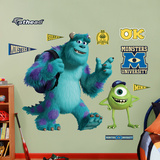 Monsters University Mike and Sulley Wall Decal Sticker Wall Decal