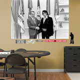 Elvis Presley with President Nixon Mural Decal Sticker Wall Decal