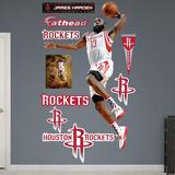 Houston Rockets James Harden - Dunk Wall Decal Sticker Muursticker