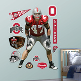 NCAA/NFLPA Ohio State Buckeyes A.J. Hawk Wall Decal Sticker Wall Decal