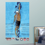 Swimming Ryan Lochte Overhead Mural Decal Sticker Wall Decal
