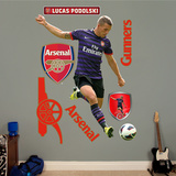 Arsenal Gunners Lukas Podolski Wall Decal Sticker Wall Decal