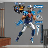 NFL Detroit Lions Matthew Stafford 2012 Blue Wall Decal Sticker Wall Decal