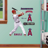 Los Angeles Angels Mike Trout Junior Wall Decal Sticker Wall Decal