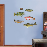Bass Fish Wall Decal Sticker Wall Decal