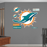 NFL Miami Dolphins 2013 Logo Wall Decal Sticker Wall Decal