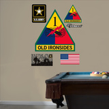 US Army 1st Armored Insignia Logo Wall Decal Sticker - Duvar Çıkartması