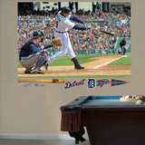 Detroit Tigers Miguel Cabrera Swings Away Mural Decal Sticker Wall Decal