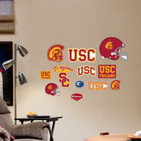 NCAA USC Trojans - Team Logo Assortment Wall Decal Sticker Wall Decal