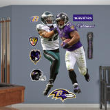 NFL Baltimore Ravens Ray Rice-Kurt Coleman 2012 Duo Wall Decal Sticker Wall Decal