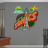 NBA Seattle Supersonics Classic Logo Wall Decal Sticker Wall Decal