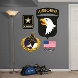 US Army 101st Airborne Logo Wall Decal Sticker Adhésif mural