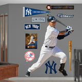 MLB New York Yankees Derek Jeter - Swings Away Wall Decal Sticker Wall Decal