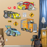 Race Cars Wall Decal Sticker Kalkomania ścienna