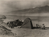 Tourists Camp in Death Valley Photographic Print by B.Anthony Stewart