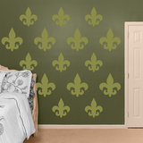 Olive Fleur de Lis Wall Decal Sticker Wall Decal