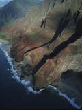 The Rugged Coast of Na Pali Coast State Park Photographic Print by Diane & Len Cook & Jenshel