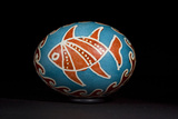 An Easter Egg with a Fish and Waves Motif Photographic Print by Joe Petersburger
