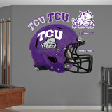 TCU Horned Frogs Chrome Helmet Wall Decal Sticker Wallstickers